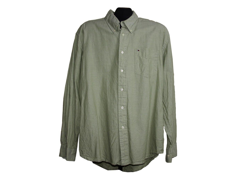 Мужская зеленая рубашка TOMMY HILFIGER, XL