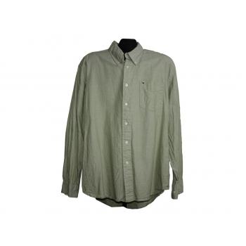Мужская зеленая рубашка TOMMY HILFIGER