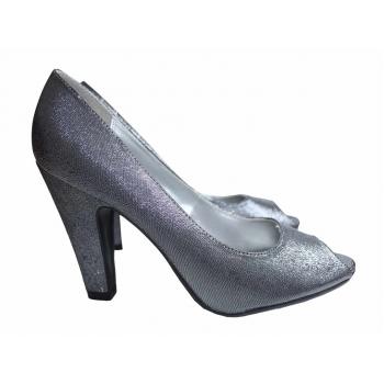 Женские серебристые туфли NEW LOOK 38 размер