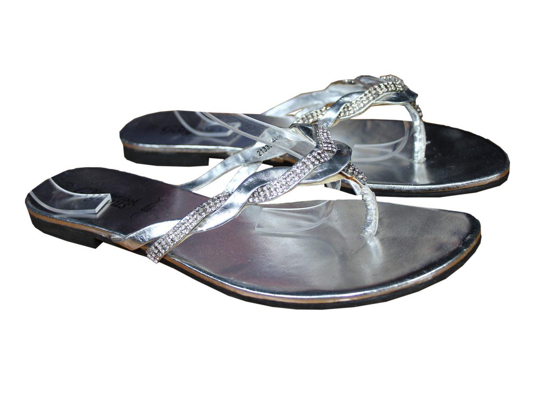 Женские сандалии вьетнамки со стразами NEW LOOK GORGEOUS 38 размер