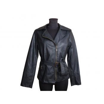 Женская черная кожаная куртка, S