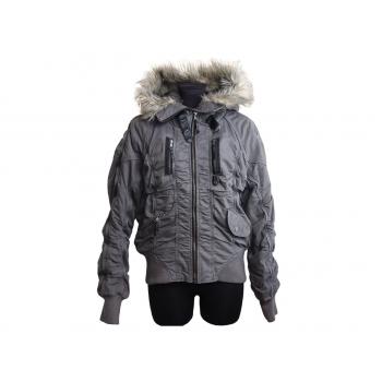 Женская серая куртка с капюшоном NEXT, L