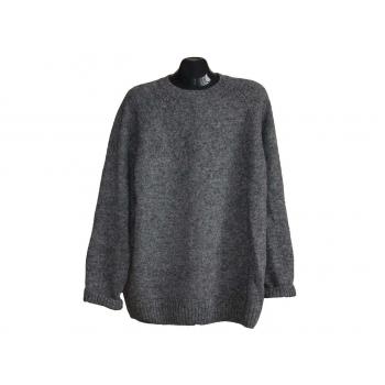 Мужской серый шерстяной свитер MARKS & SPENCER, XL