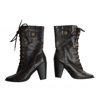 Женские коричневые кожаные сапоги NEW LOOK 37 размер