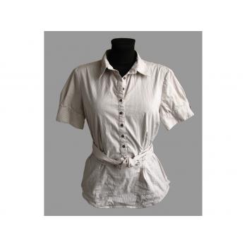 Бежевая женская блузка в полоску ZARA BASIC