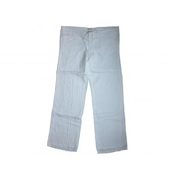 Женские белые льняные брюки GAP