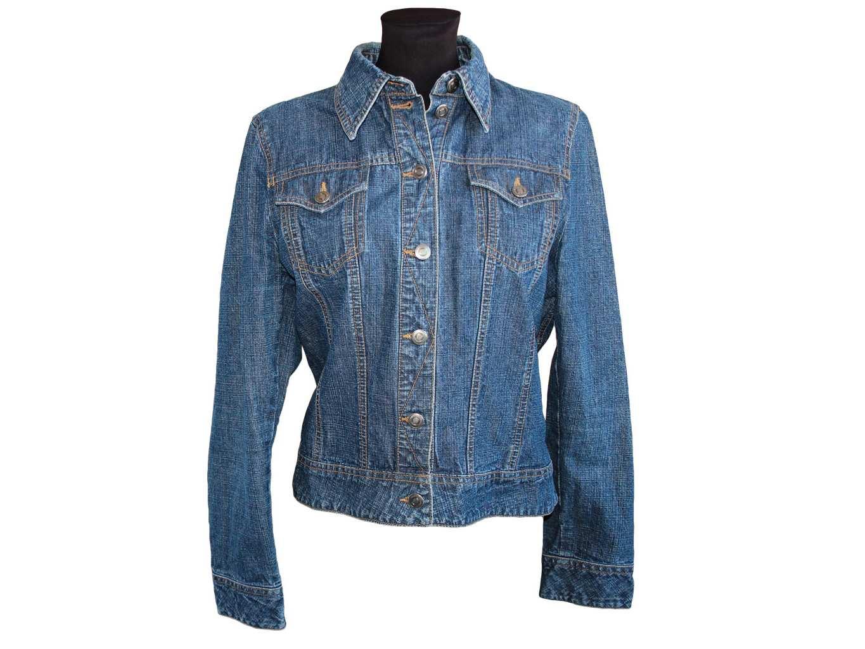 Женская синяя джинсовая куртка H&M, M