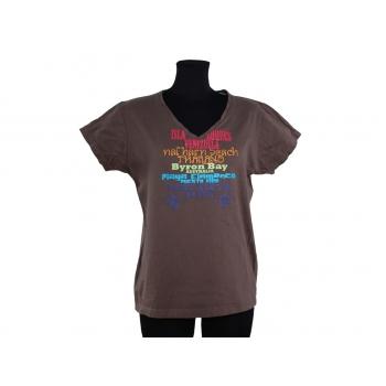 Женская коричневая футболка PHELIX, L
