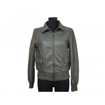 Женская зеленая кожаная куртка NEXT, S