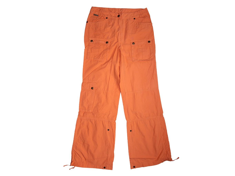 Женские оранжевые расклешенные брюки, XS