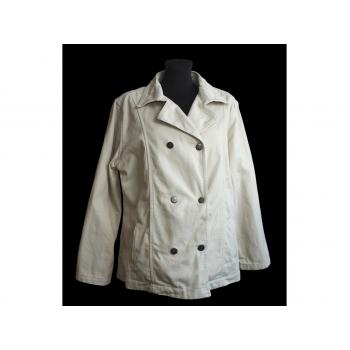 Женская бежевая джинсовая куртка большого размера, XL