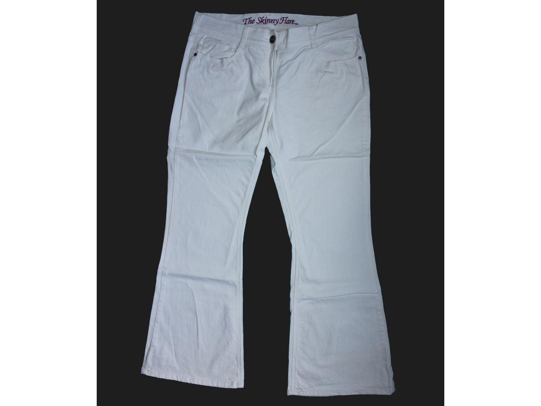 Женские белые джинсы клеш NEXT SKINNY FLARE, XXL