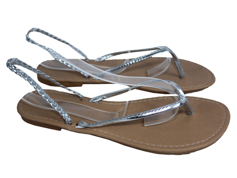 Женские серебристые сандалии вьетнамки ATMOSPHERE 37 размер