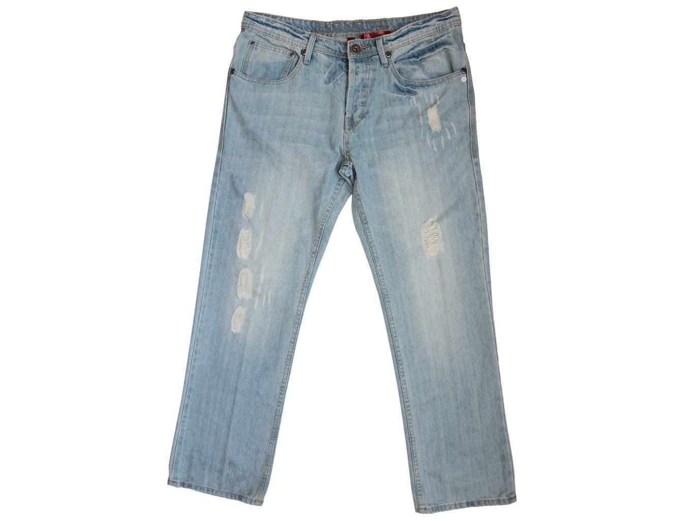 Мужские голубые рваные джинсы DENIM W 34 L 32
