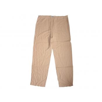 Женские бежевые льняные брюки RIVIERES DE LUNE, XL