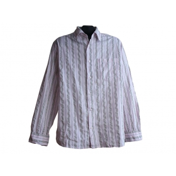 Мужская розовая рубашка в полоску ANGELO LITRICO, L