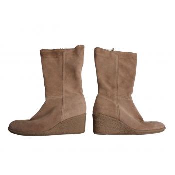 Женские замшевые демисезонные сапоги M & Co 37 размер