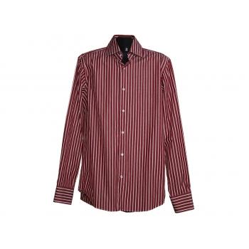 Мужская красная рубашка в полоску HUGO BOSS, L