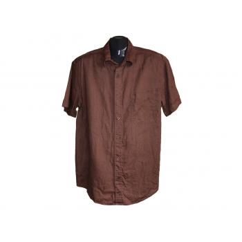 Мужская коричневая льняная рубашка NEXT