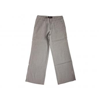 Женские бежевые льняные в полоску брюки MONTON, S