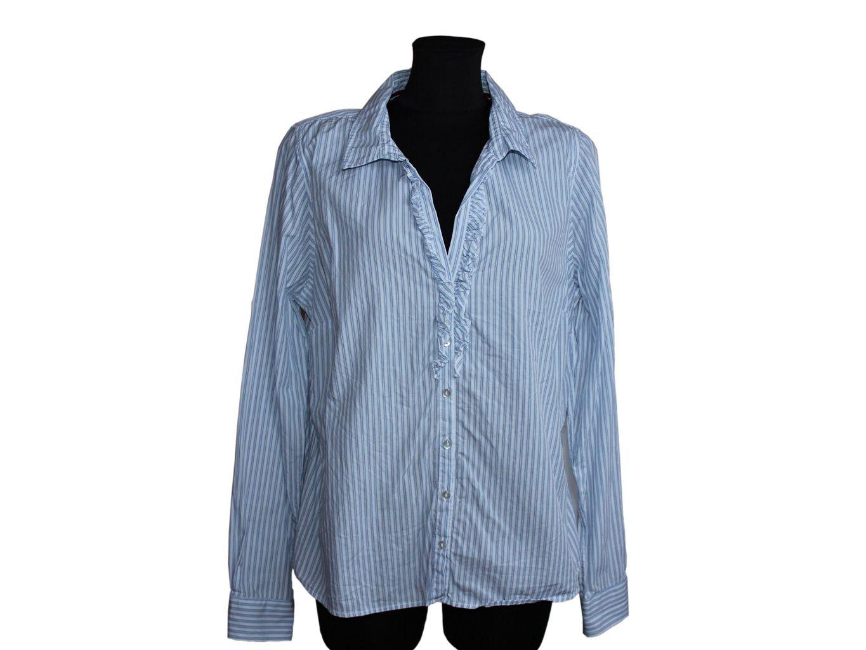 Женская  голубая рубашка в полоску PROMISS, М