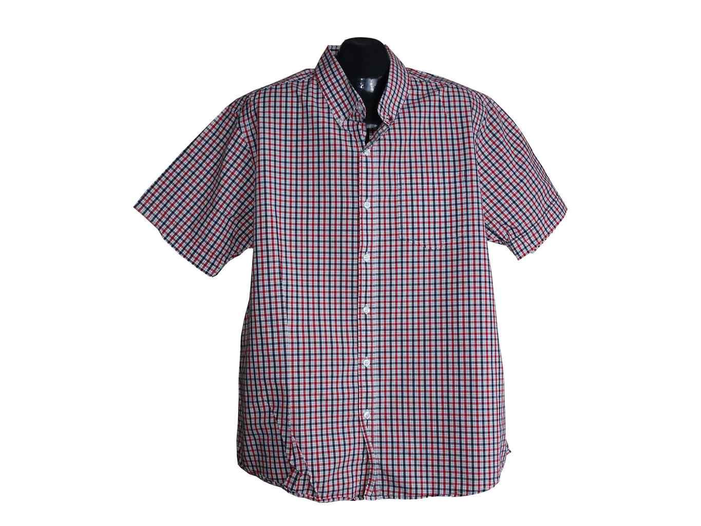 Мужская красная рубашка в клетку GEORGE, XL