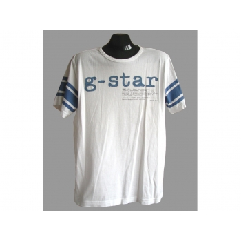 Мужская белая с полосками футболка G-STAR
