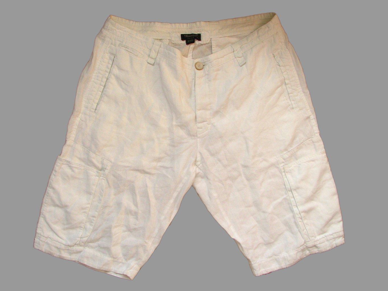Мужские белые льняные шорты TRANSIT UOMO W 34