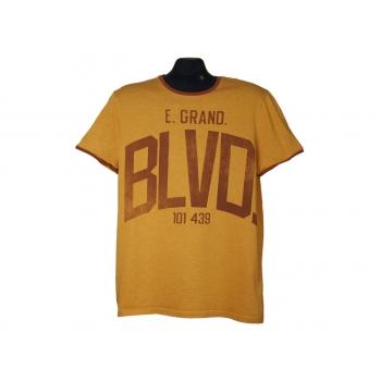 Мужская оранжевая футболка ANGELO LITRICO, М