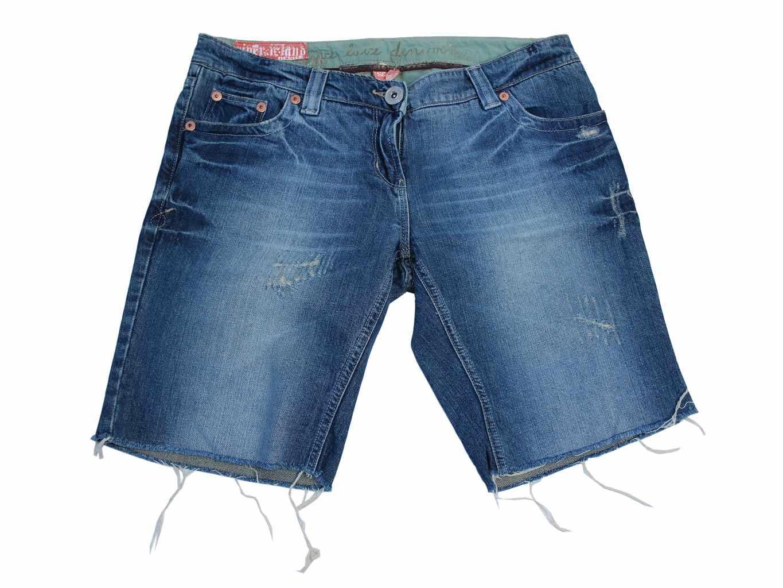 Женские джинсовые рваные шорты RIVER ISLAND