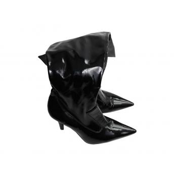 Женские сапоги ботфорты лаковые 38 размер