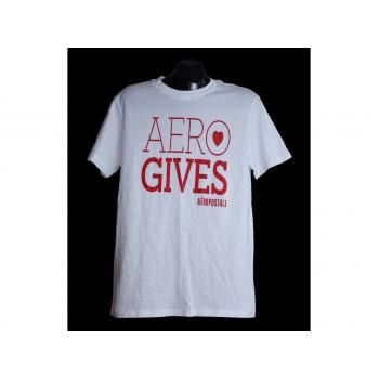 Мужская белая футболка AEROPOSTALE, L