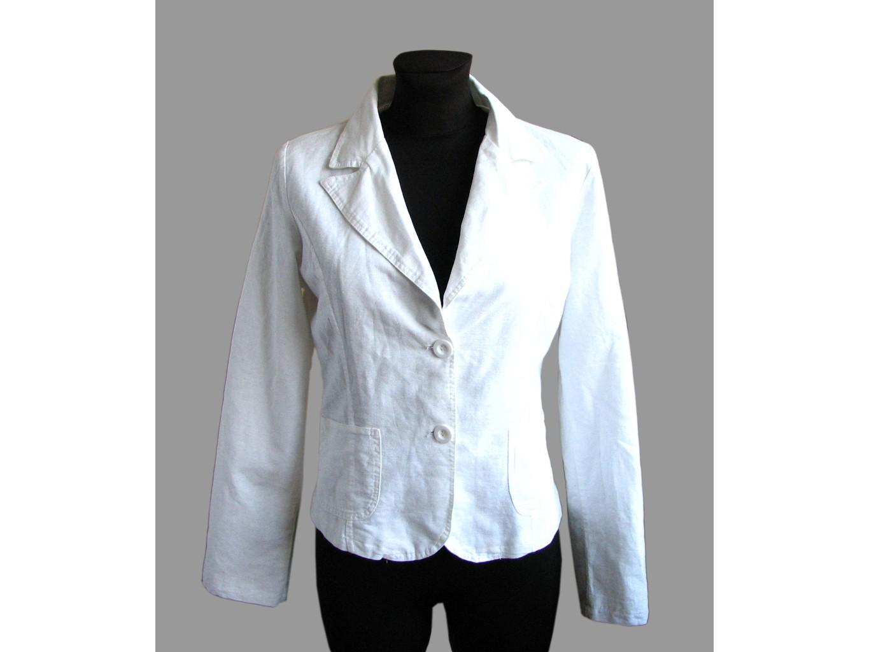 83bd287dc942 Пиджак льняной женский белый ZEBRA, М, РАСПРОДАЖА, цена до 499 ...