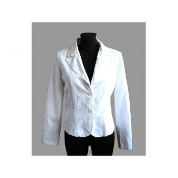 Женский белый льняной пиджак ZEBRA, М
