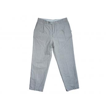 Мужские серые льняные брюки REED W 32 L 32