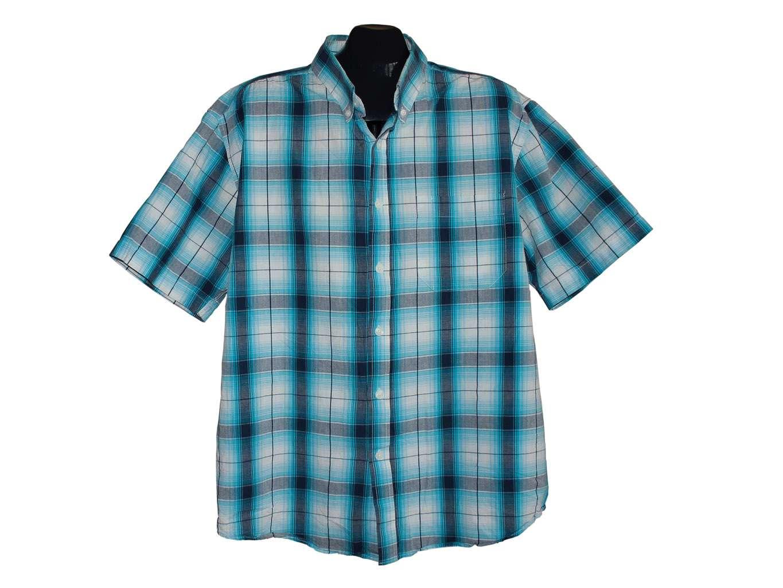 Мужская синяя рубашкая в клетку URBAN SPIRIT, XL