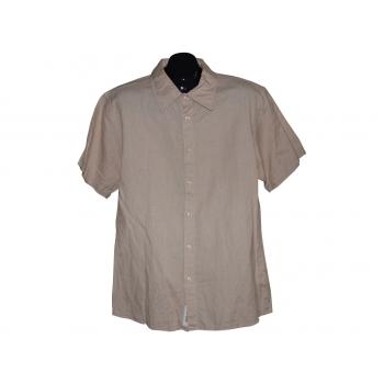 Мужская бежевая льняная рубашка SUTHERLAND, L