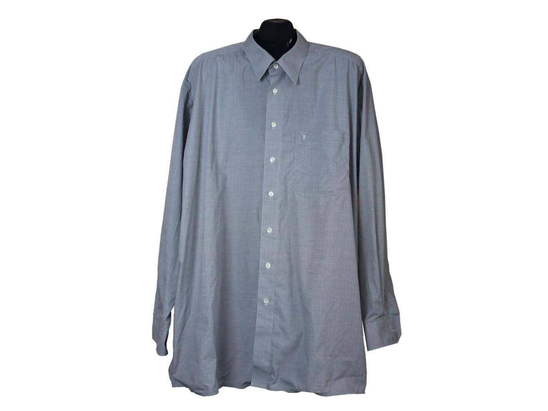 b7fe89a1a8e Размер 4XL. Рубашка с длинным рукавом серая мужская EXCELLENT ETERNA ...