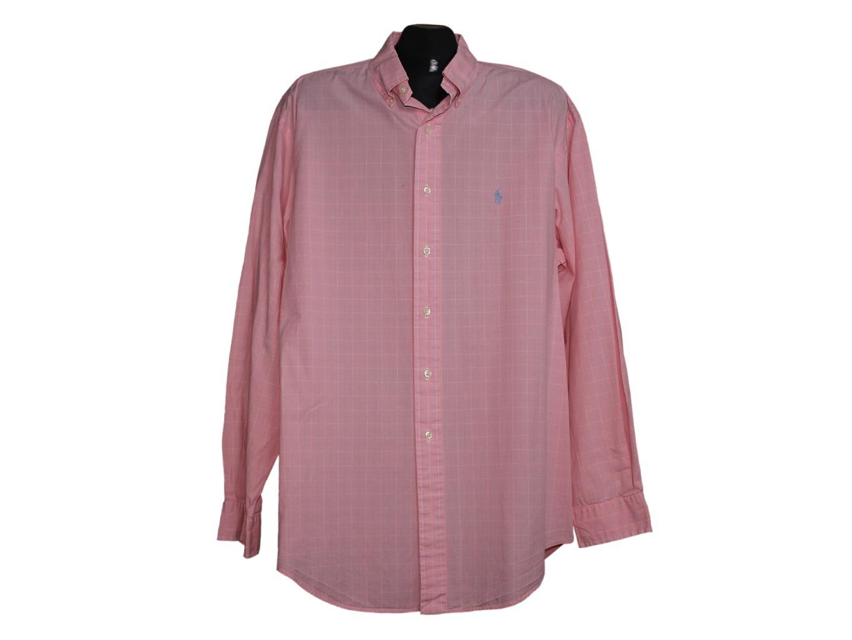 Мужская розовая рубашка POLO RALPH LAUREN, XL