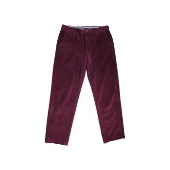 Мужские бордовые вельветовые брюки BROOKS BROTHERS CLARK W 36 L 32
