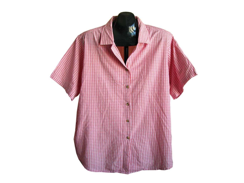 Женская красная рубашка в клетку COMPLIMENTS, XXL