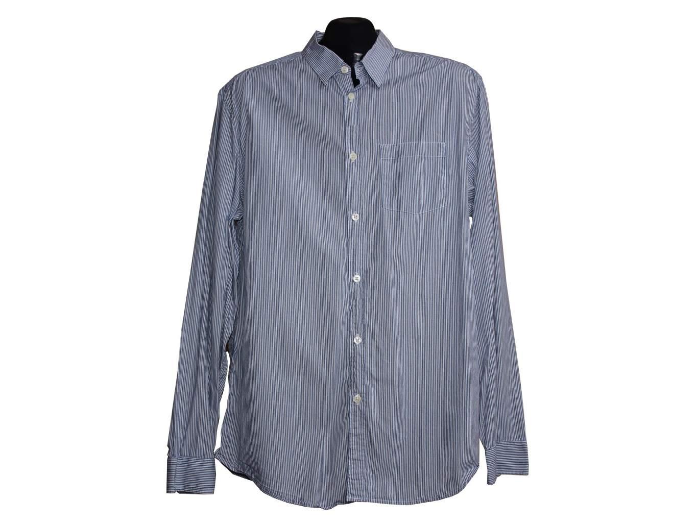 Рубашка мужская голубая в полоску GAP, L