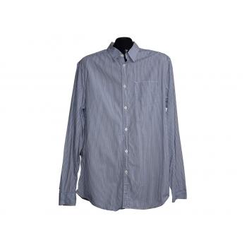 Мужская голубая рубашка в полоску GAP, L