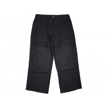 Женские черные льняные брюки NEXT, XL