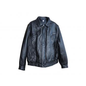 Мужская черная кожаная куртка BROOKER, XL
