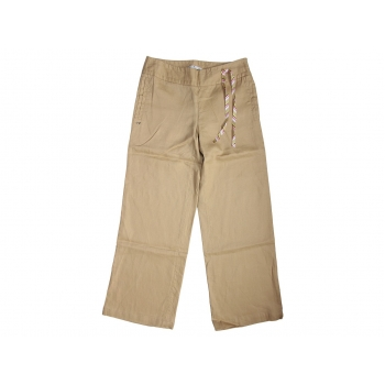 Женские бежевые льняные брюки TOMMY HILFIGER, XS