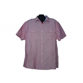 Мужская розовая рубашка в полоску BURTON, XL