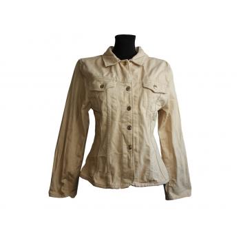 Женская бежевая джинс куртка WARLO, XL