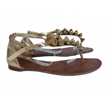 Женские золотистые сандалии 39 размер