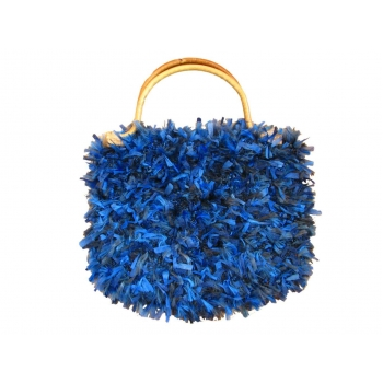 Женская синяя сумка среднего размера